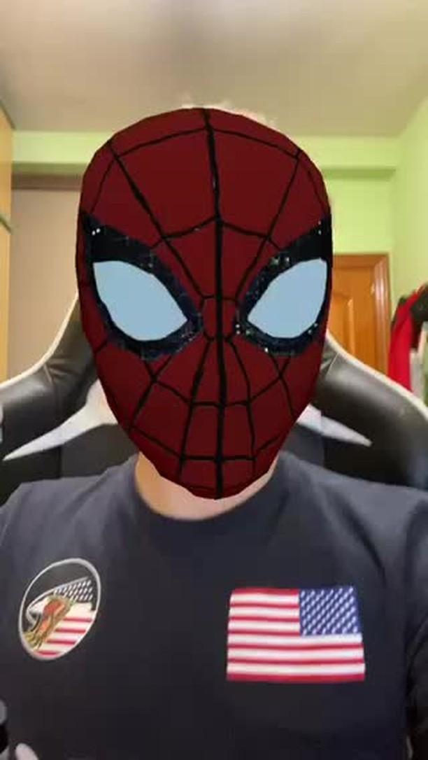 novoxyt Instagram filter Spiderman Mask