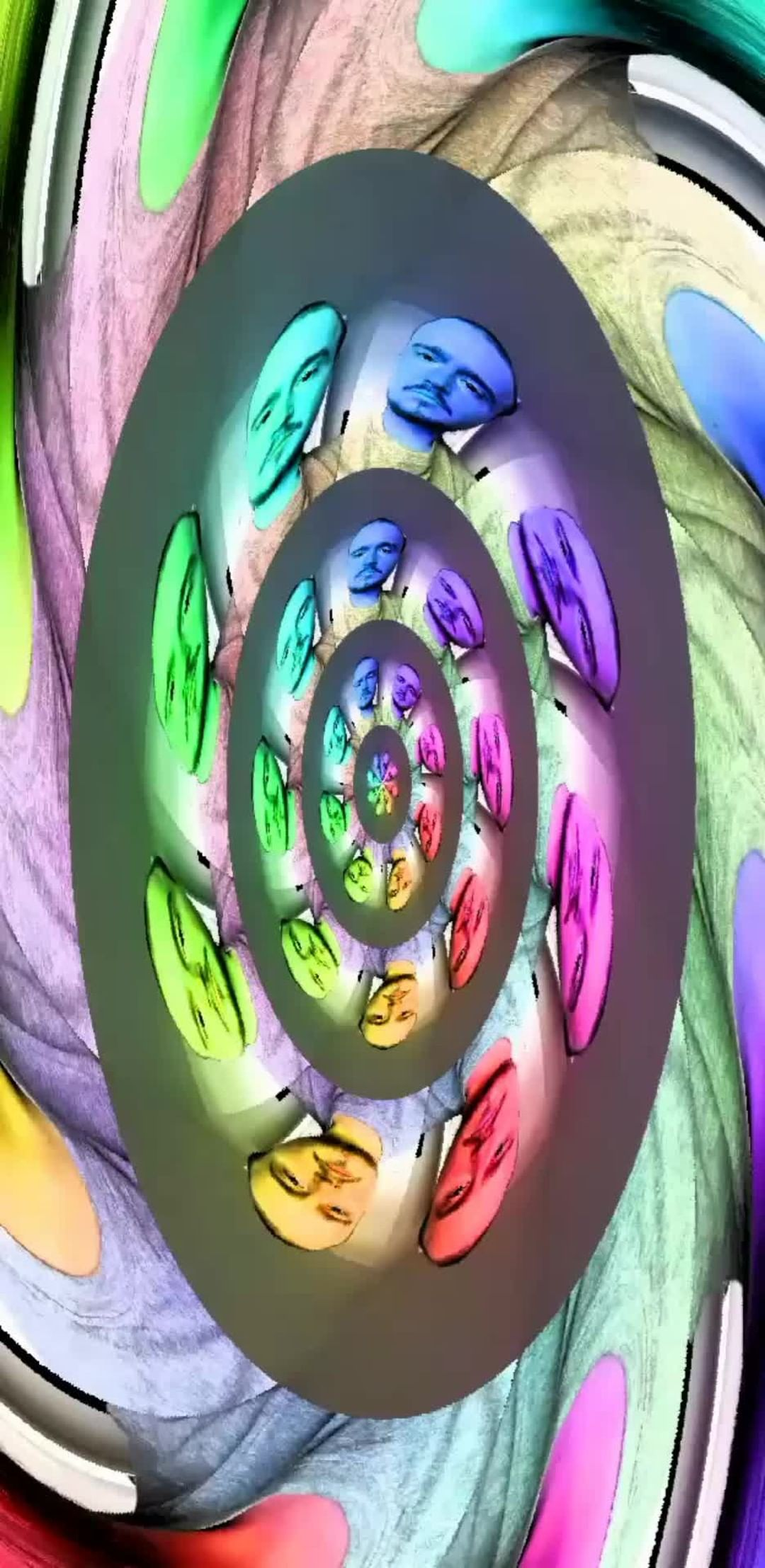 Instagram filter Rainbow Vortex