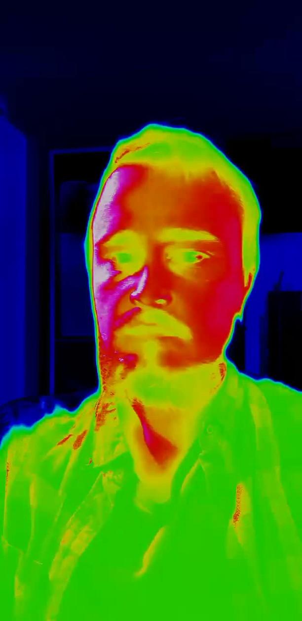 Instagram filter Thermal Vision