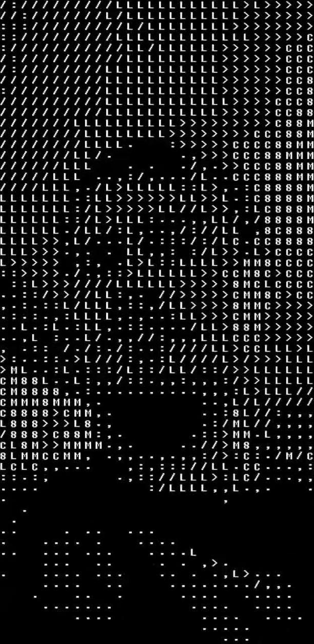 Instagram filter ASCII Art