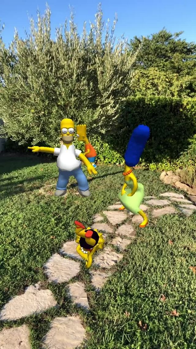 Instagram filter THE SIMPSONS DANCING