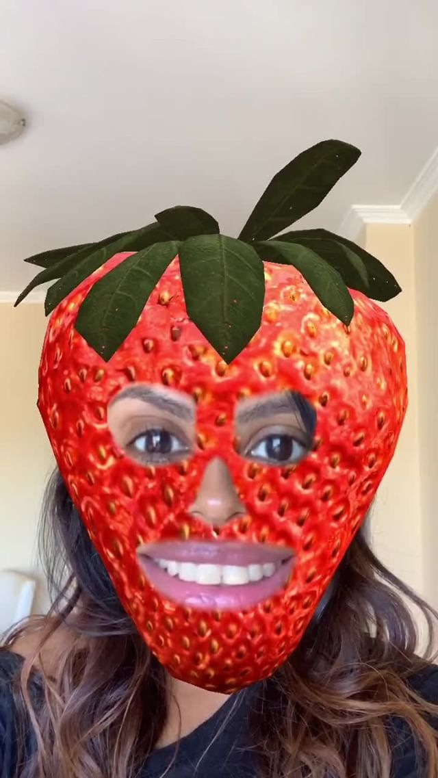 Instagram filter Fruit Face