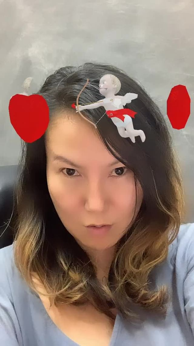 Instagram filter Valentine Halo