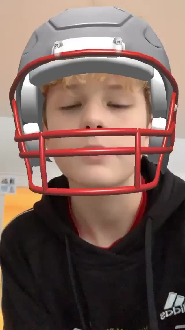 Instagram filter Champs Helmet
