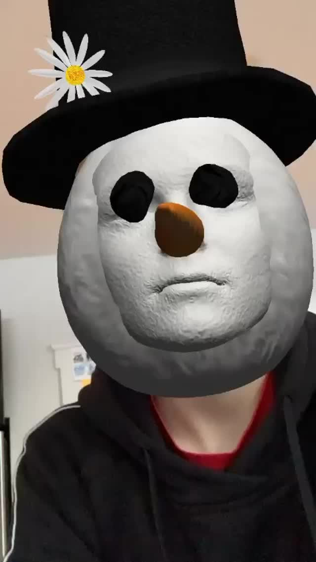 Instagram filter Snowman