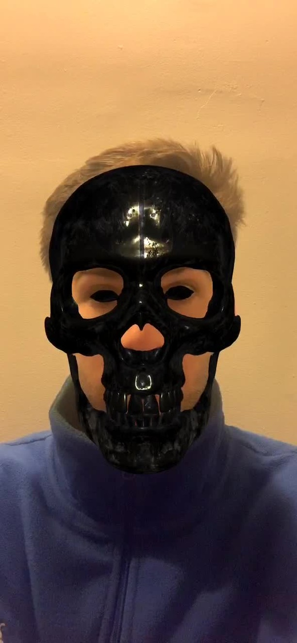Instagram filter Dark Skull Mask