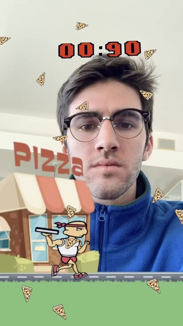 Instagram filter Pizza Race Challenge