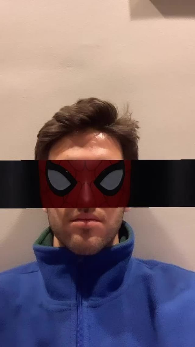 Instagram filter Spidey