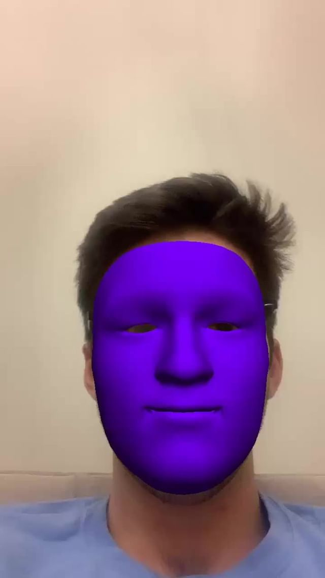Instagram filter Purple Face