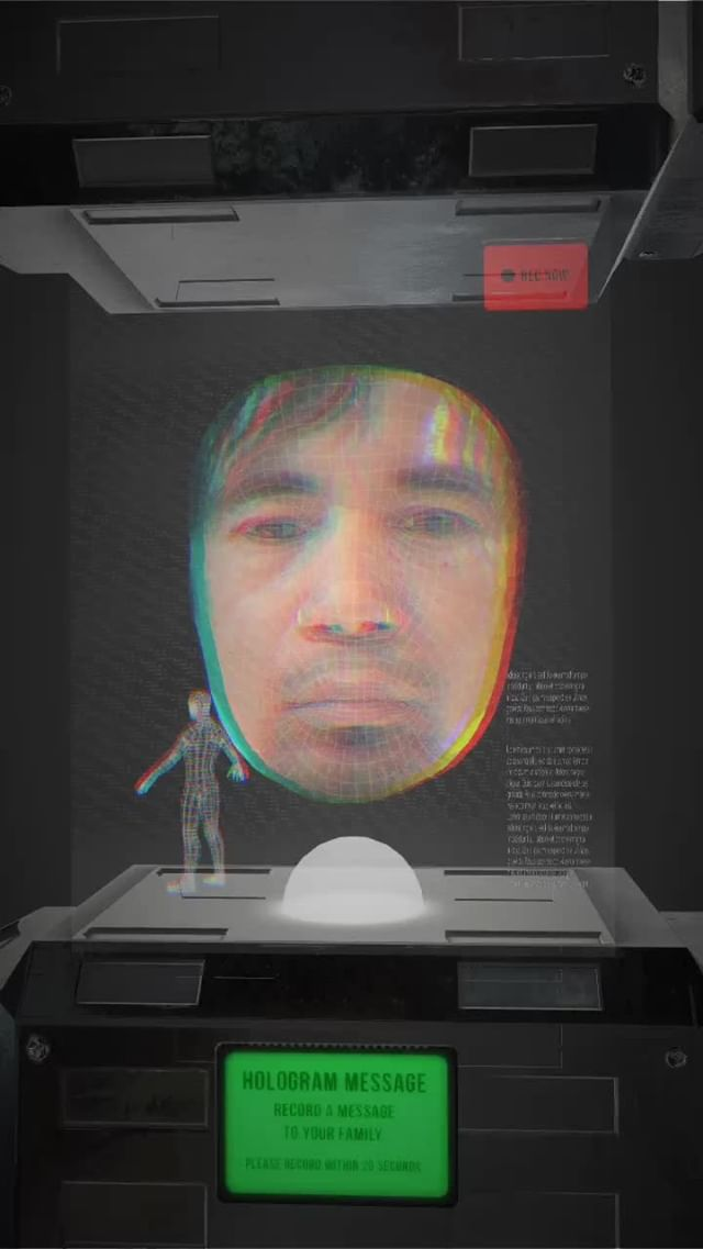 Instagram filter Face Hologram Box