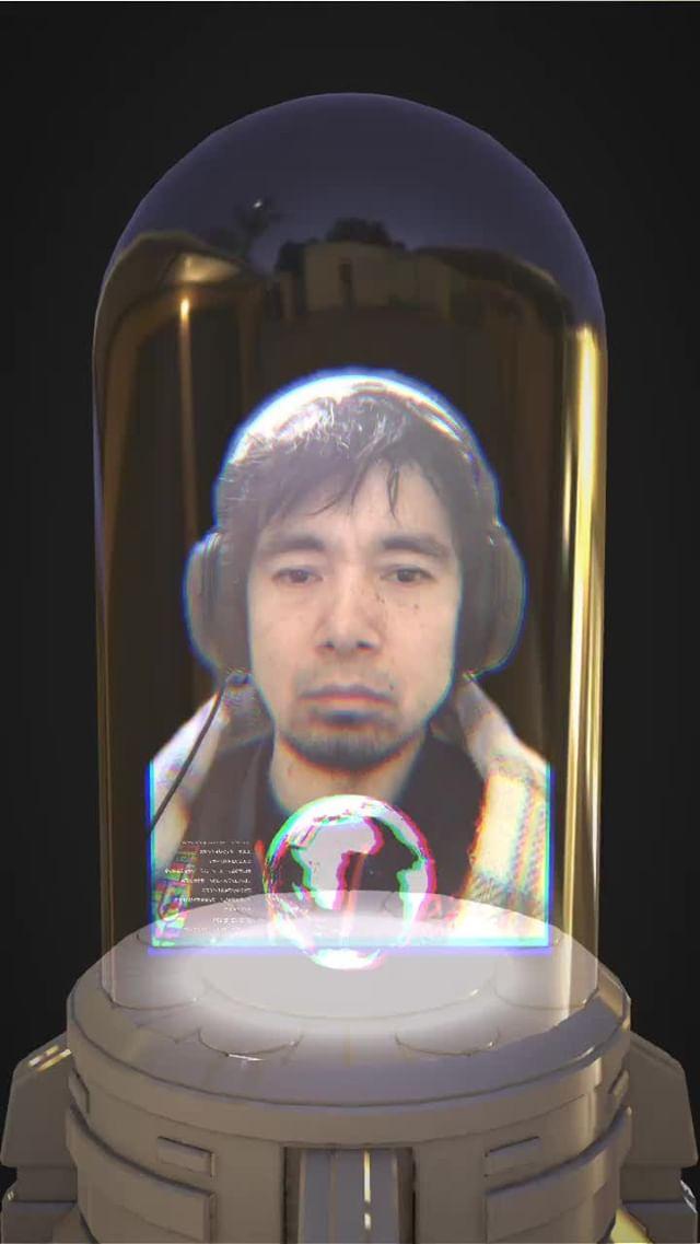 Instagram filter Hologram capsule