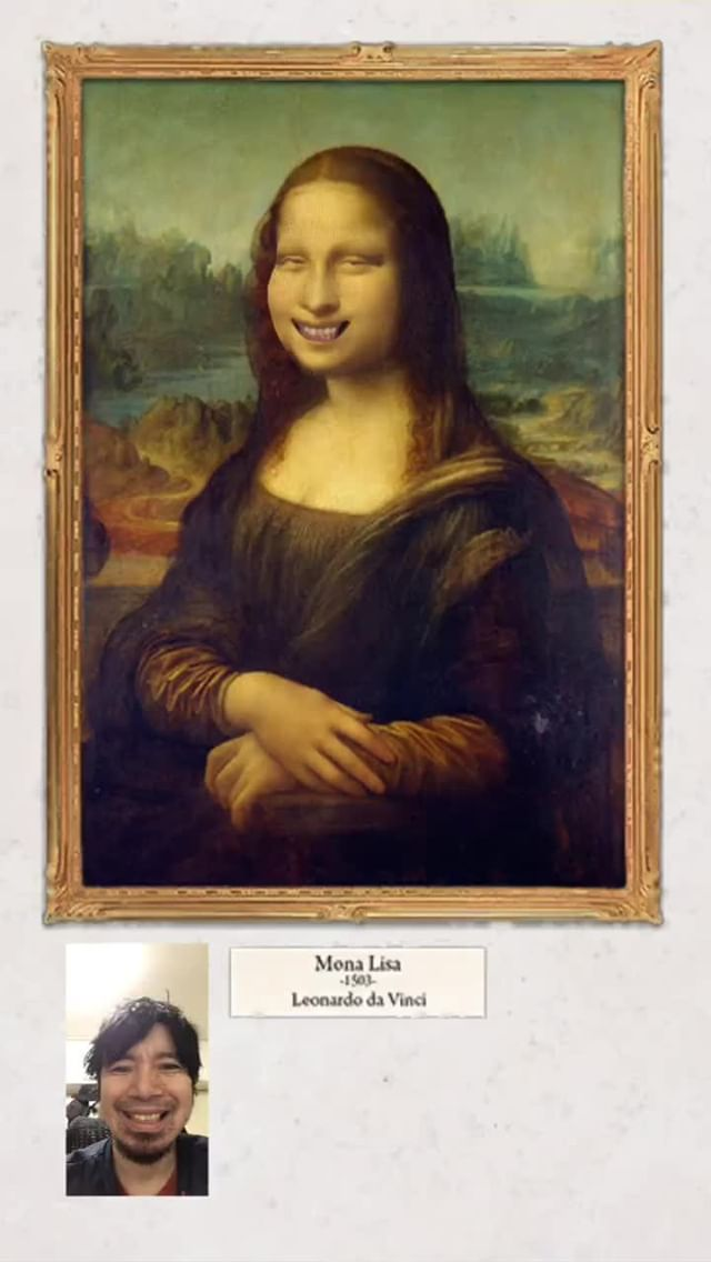 Instagram filter Mona Lisa