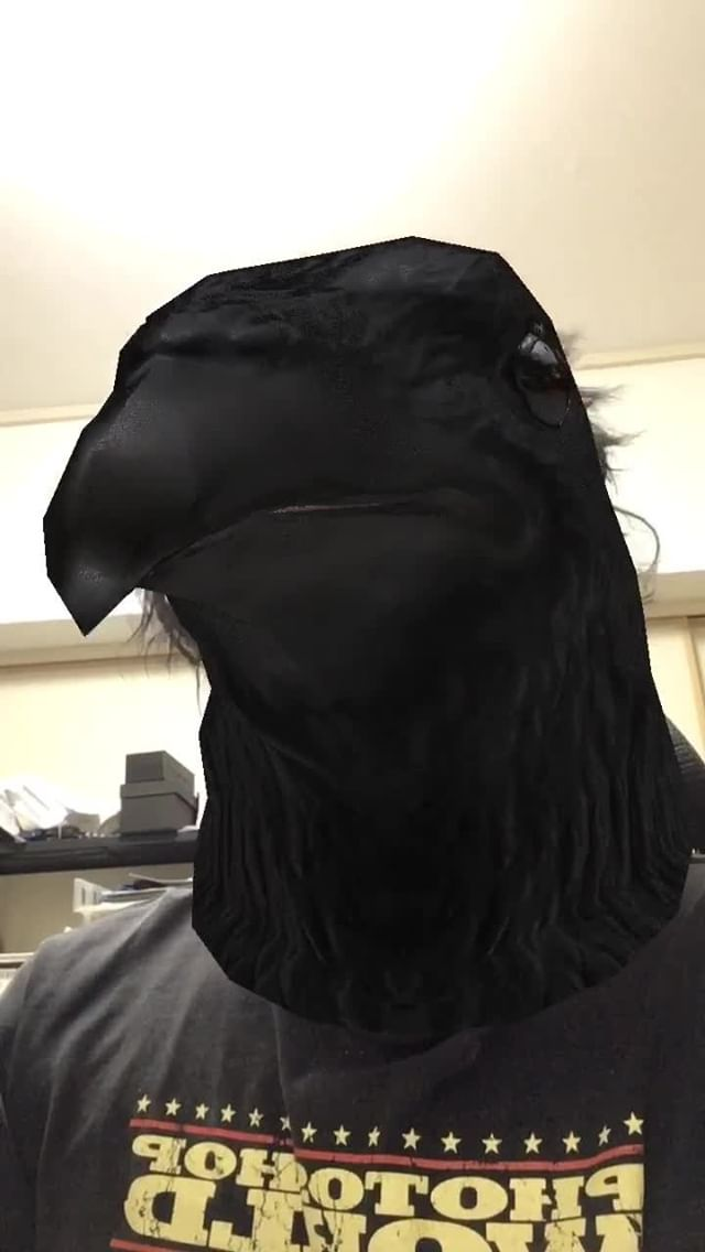 Instagram filter AnimalHead-Crow