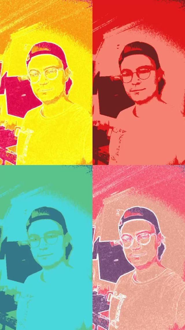 pauliakow Instagram filter Warhol's universe
