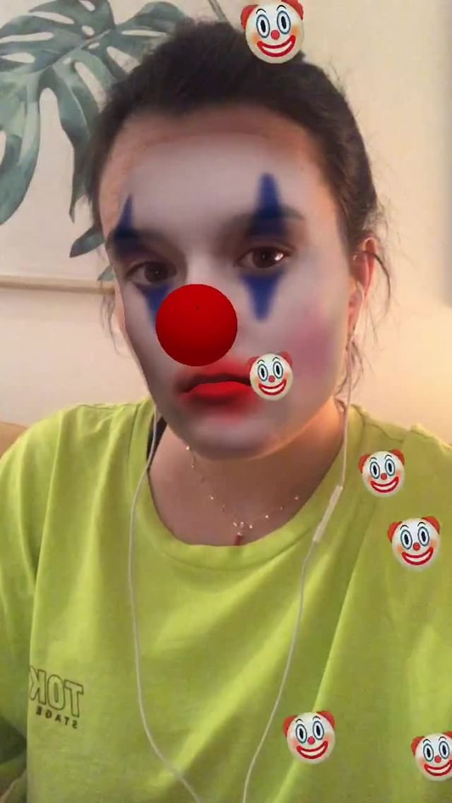 Instagram filter Clownery