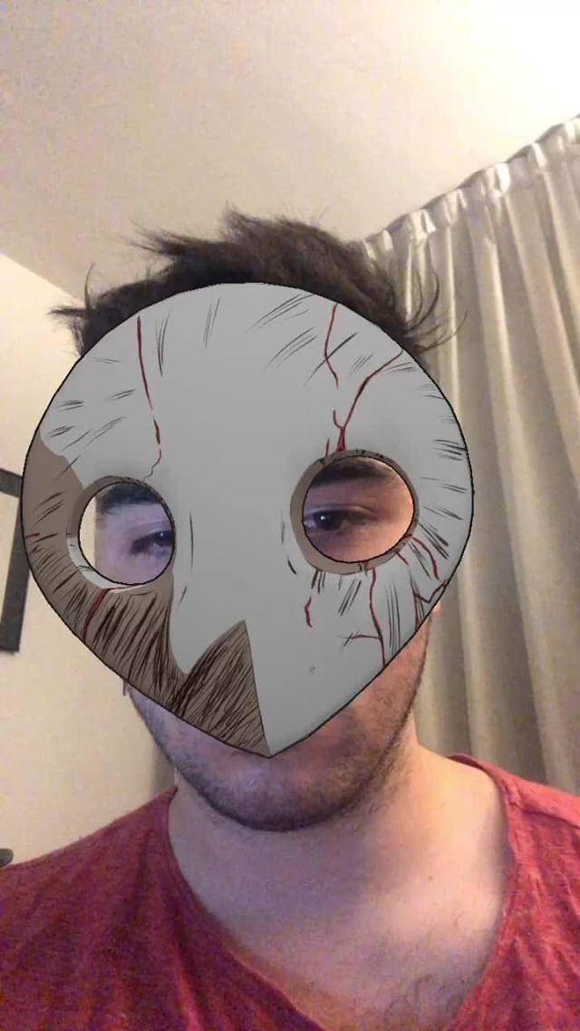 Instagram filter Angels Mask