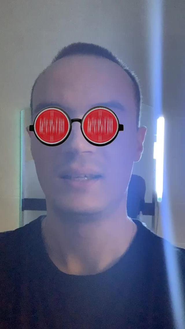 Instagram filter Красные очки