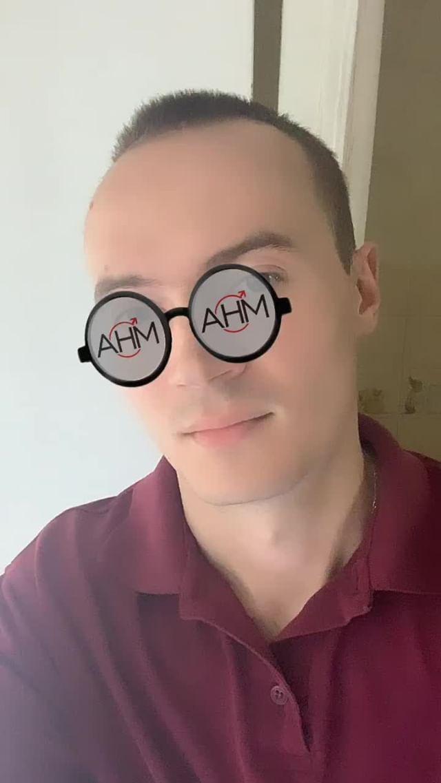Instagram filter Белые очки