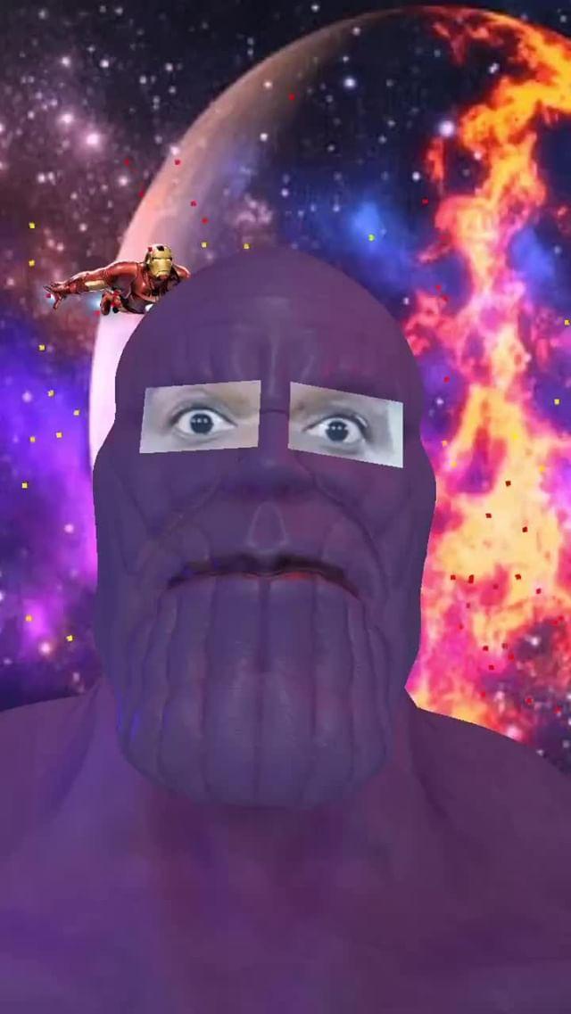 Instagram filter Thanos