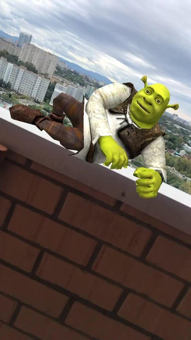 Instagram filter Shrek