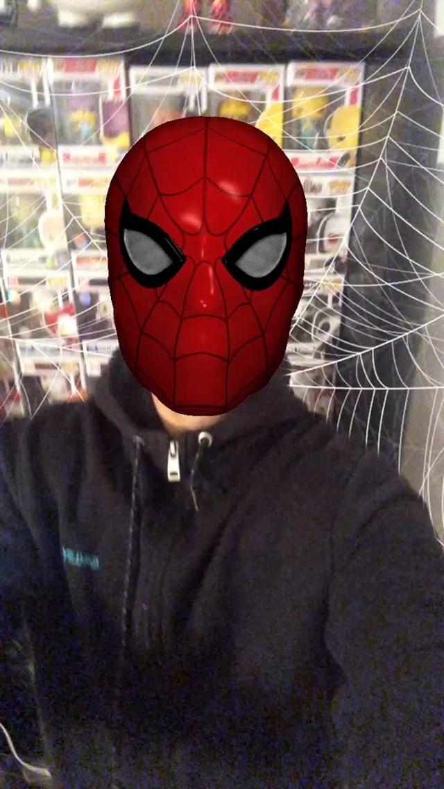 Instagram filter SpiderManMask