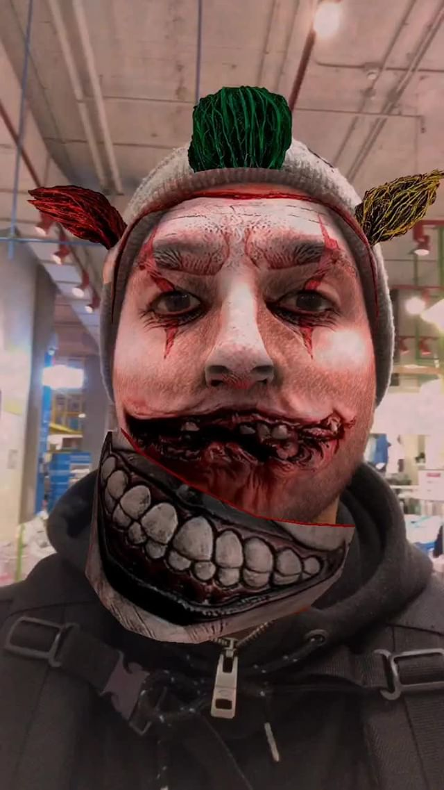 Instagram filter Clown AHS