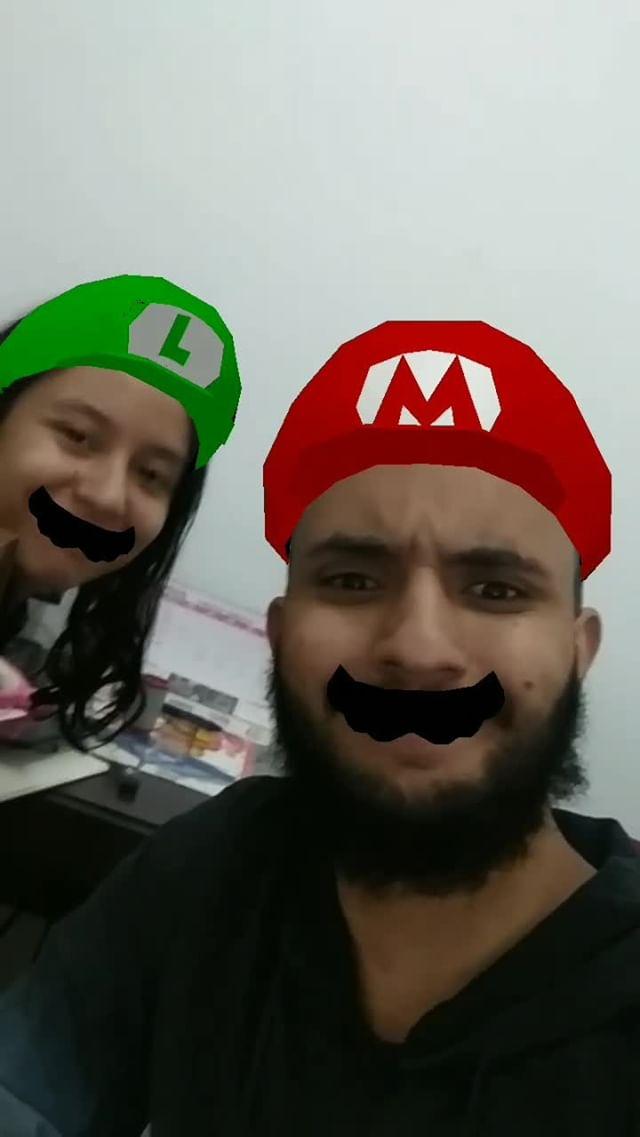 Instagram filter Mario e Luigi