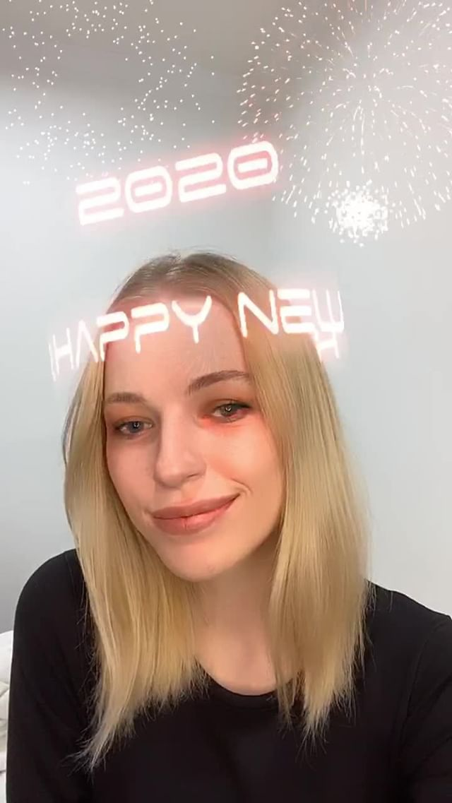 Instagram filter neon new years