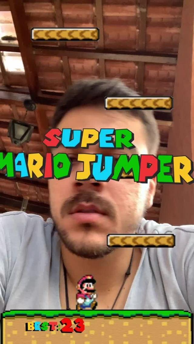 Instagram filter Super Mario Jumper
