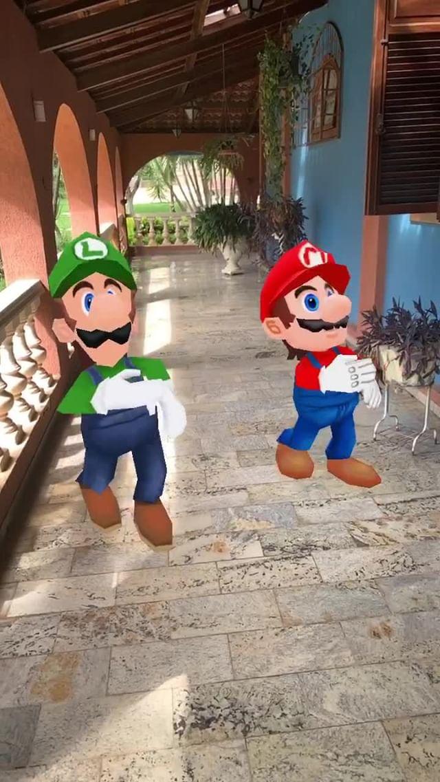 Instagram filter Mario&Luigi Dancing