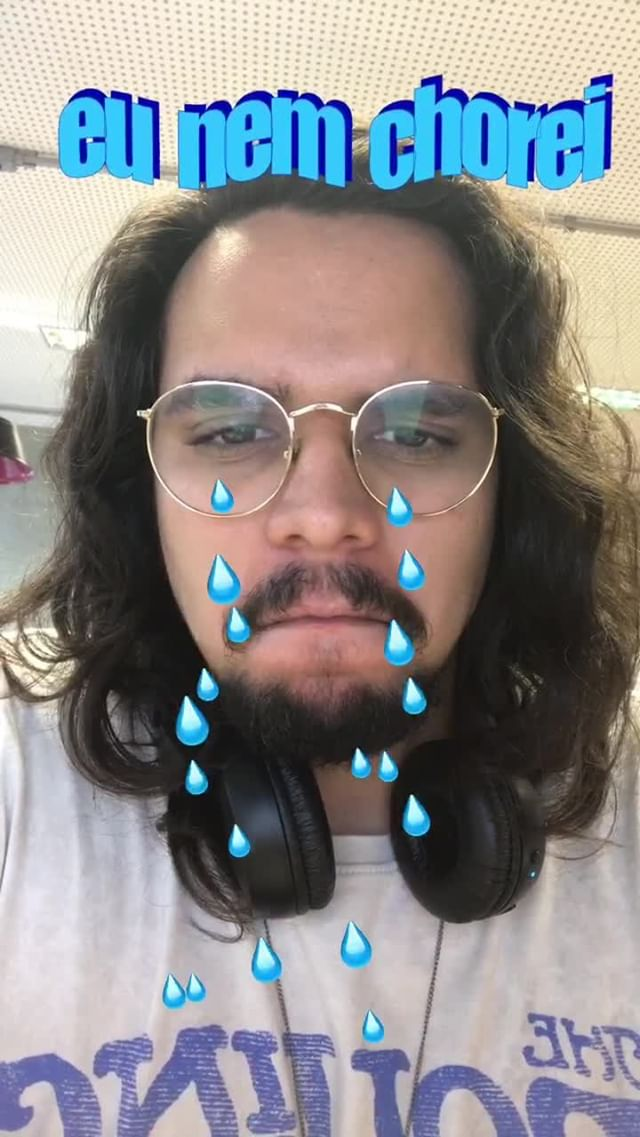 Instagram filter Eu nem chorei