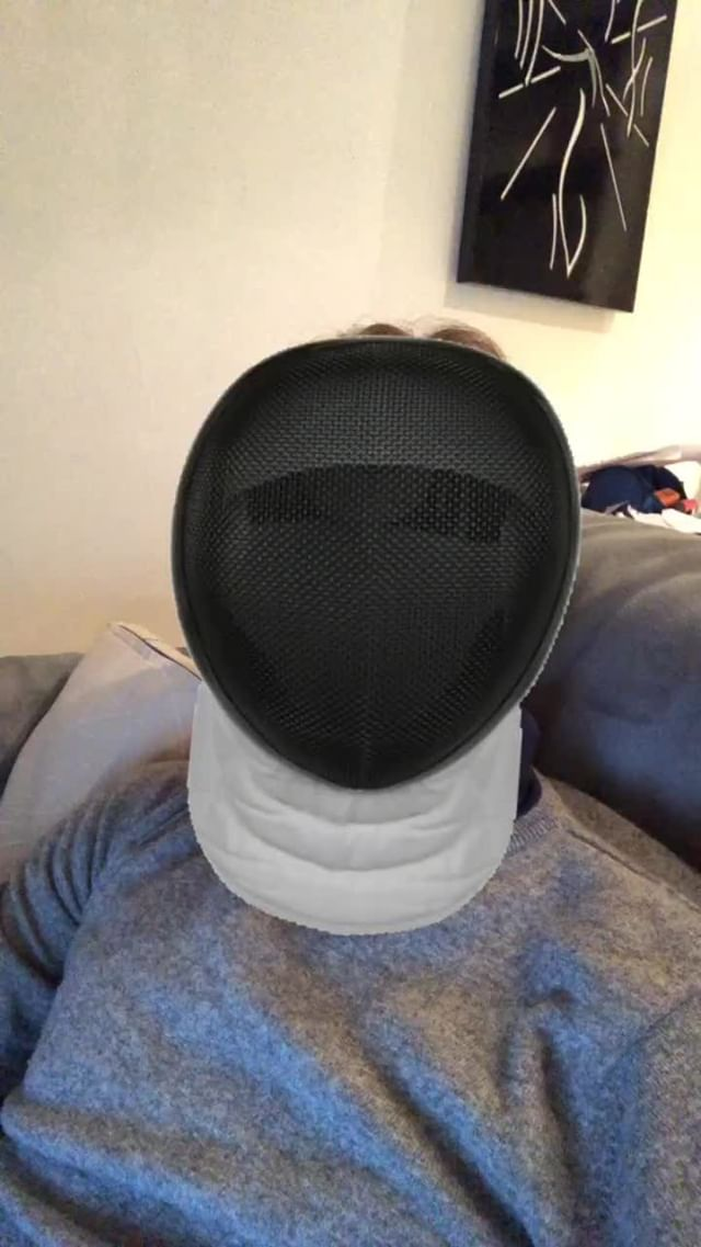 Instagram filter fencing mask