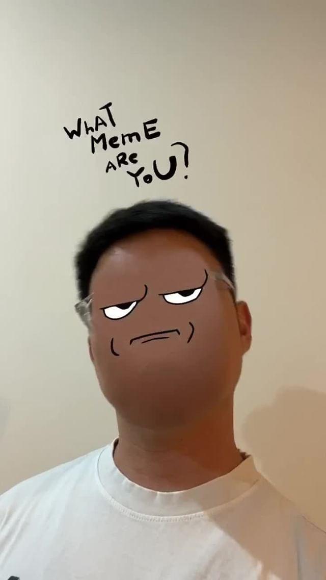 Instagram filter memeface