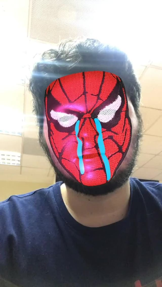 Instagram filter spider-sad