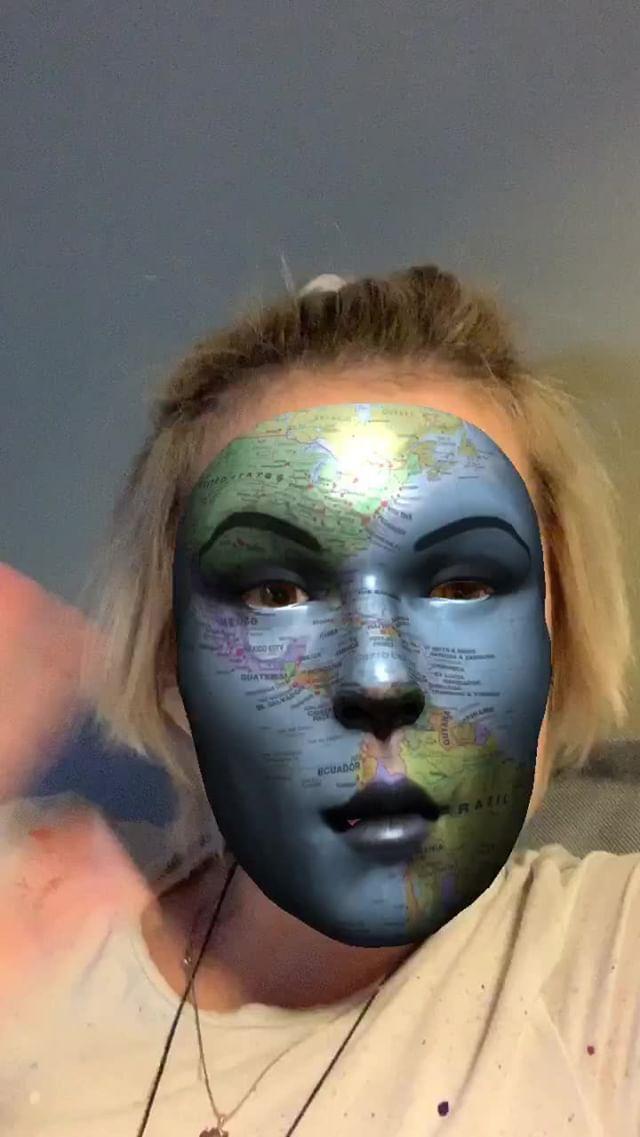 Instagram filter Глобус