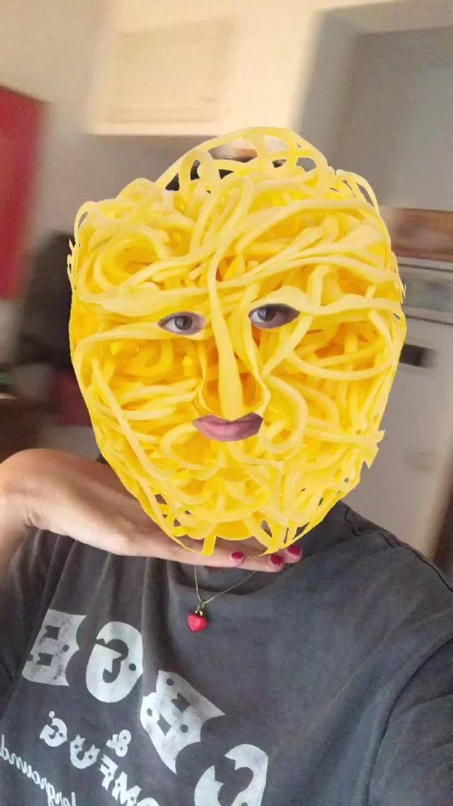 Instagram filter Noodle Face
