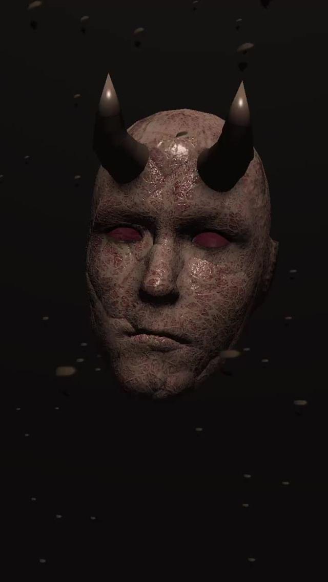 Instagram filter Demon Face