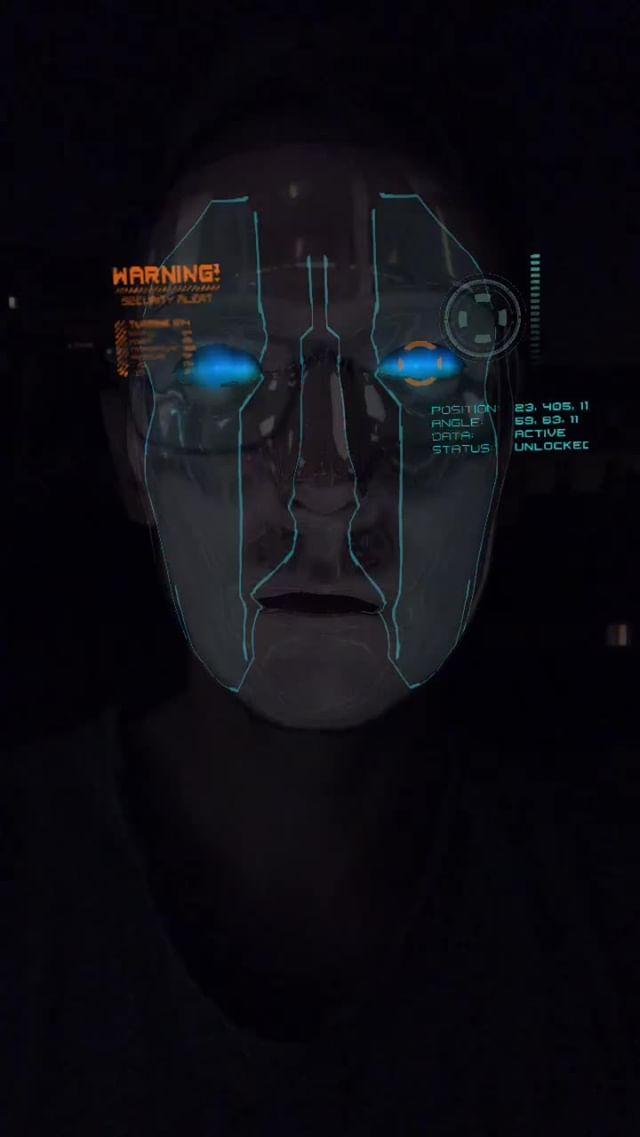 Instagram filter Blue Cyborg