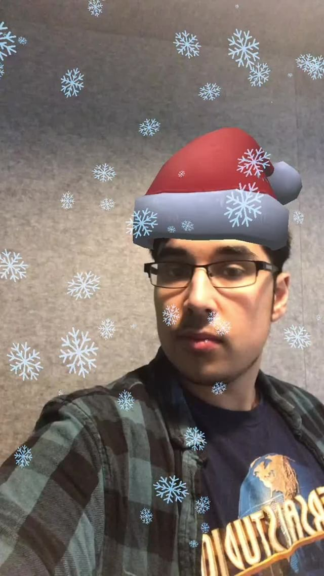 Instagram filter Christmas Hat