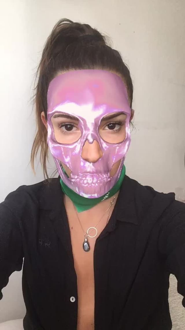 Instagram filter skull
