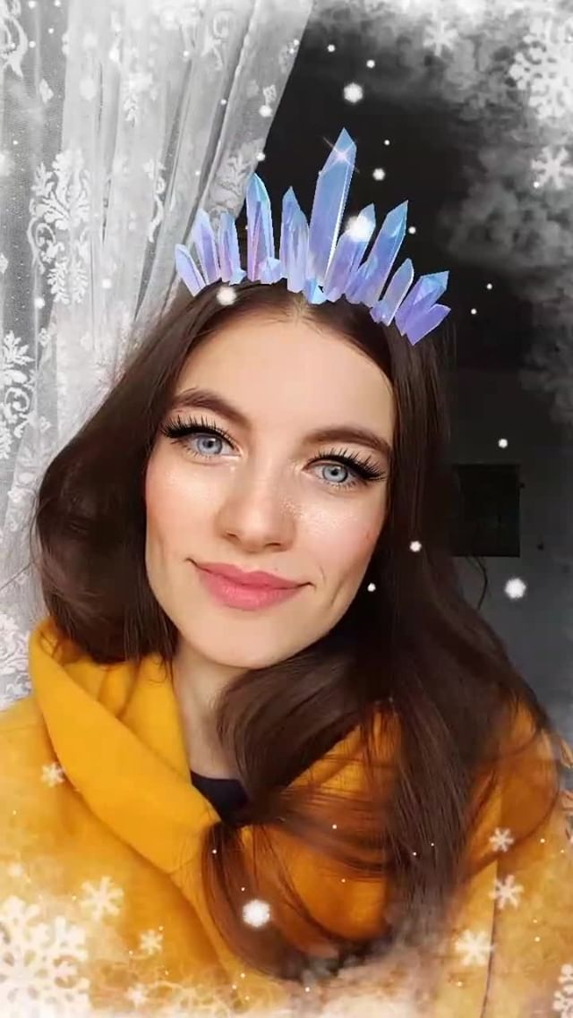 elya.boz Instagram filter snow queen
