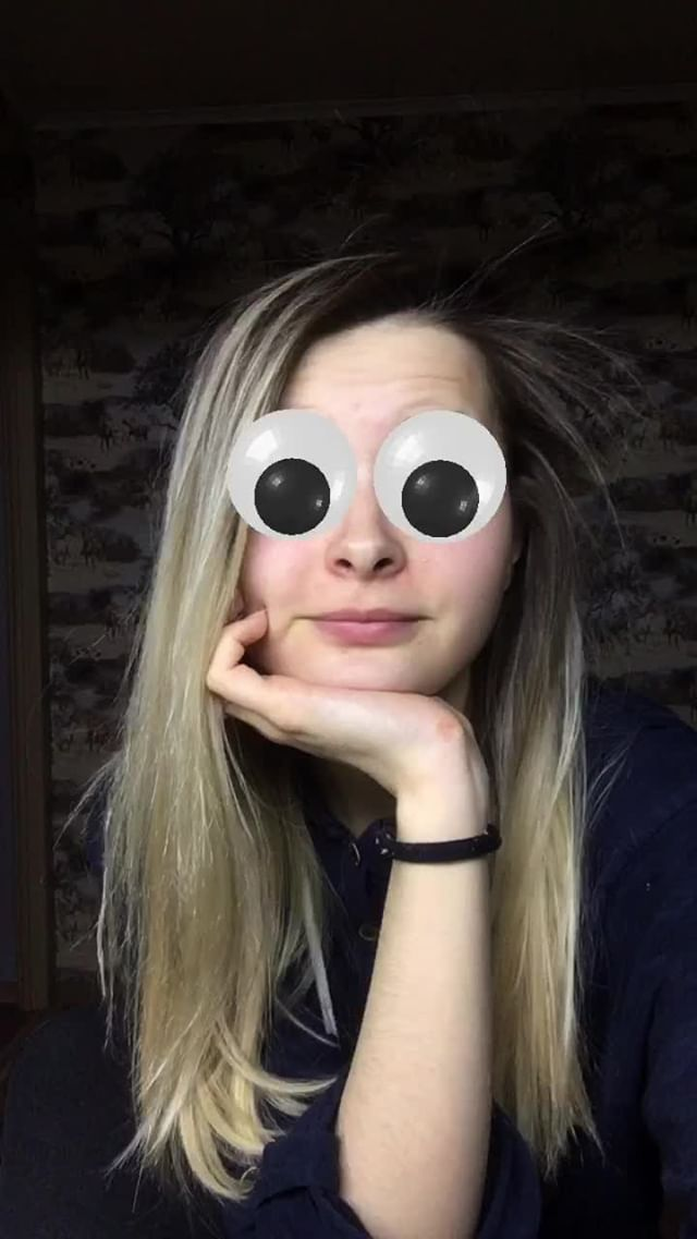 Instagram filter Googly Eyes