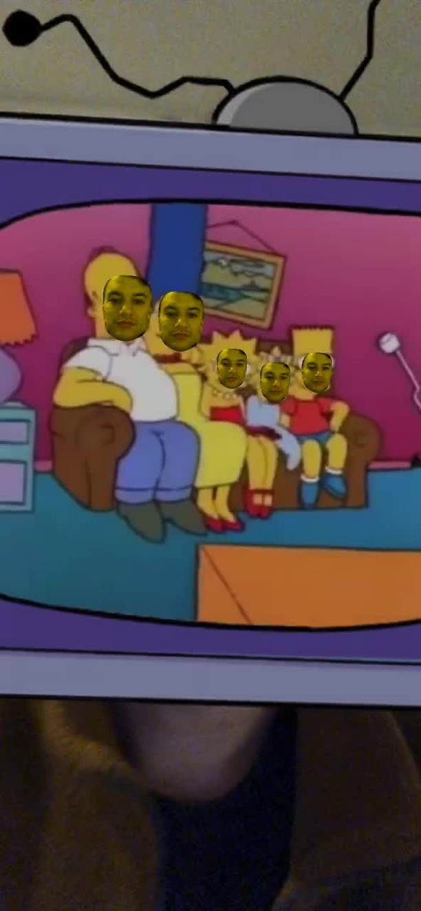Instagram filter Couch Gag