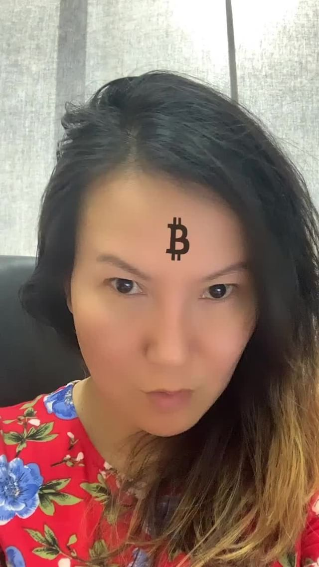 Instagram filter Bitcoin on Forehead