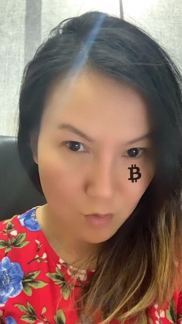 Instagram filter Bitcoin under Eyes