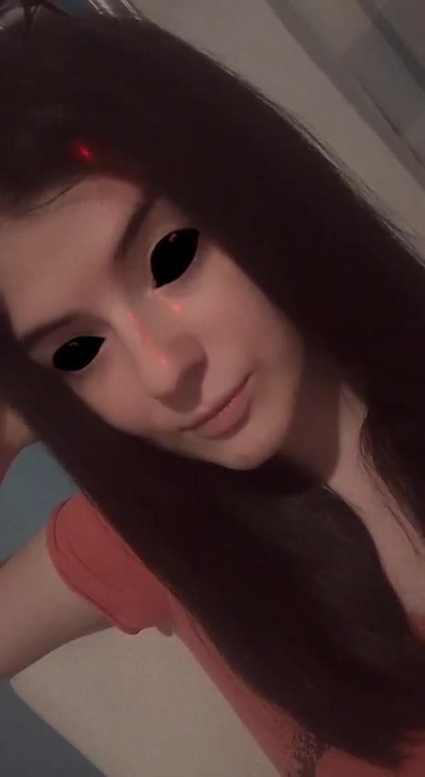 Instagram filter demon eyes