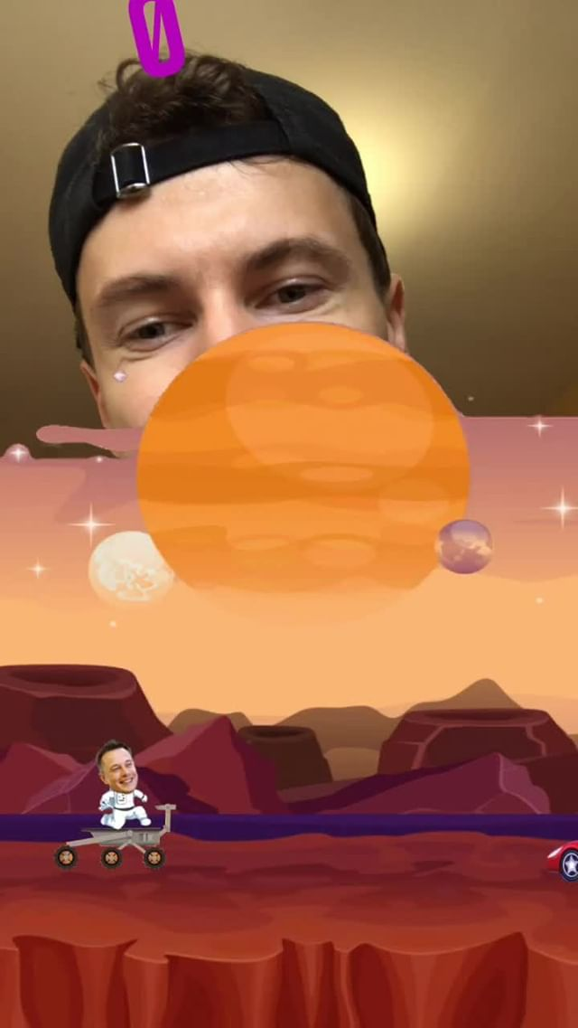 Instagram filter Mʌsk on Mars