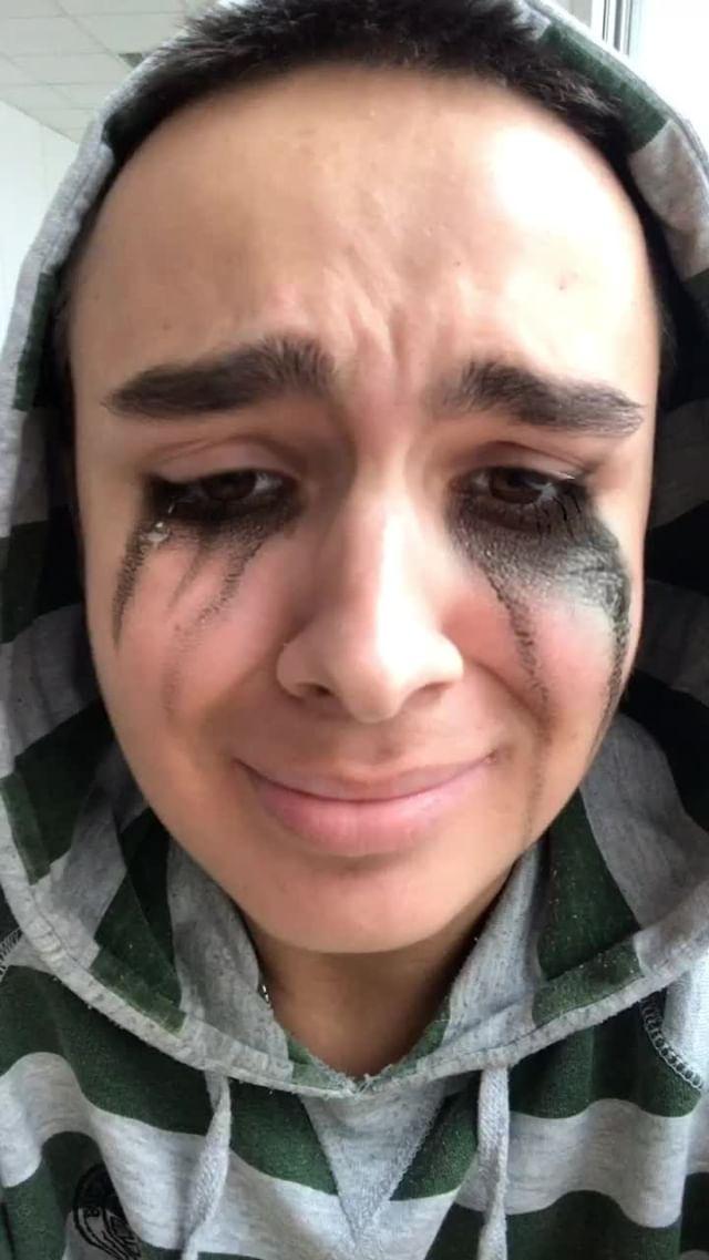 Instagram filter Mascara tear