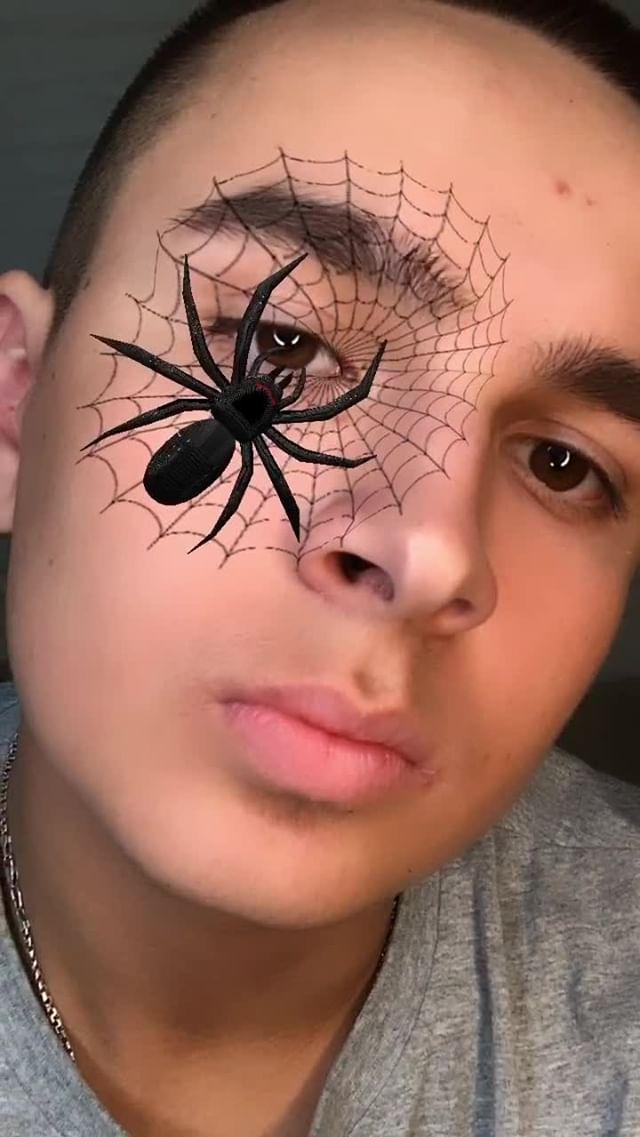 Instagram filter Face spider