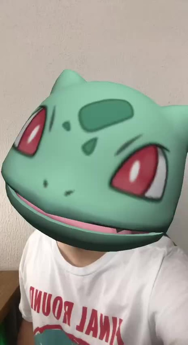 Instagram filter Bulbasaur Head